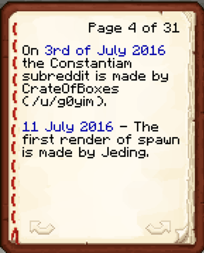 User generated content, most likely a screenshot of a written book in Minecraft